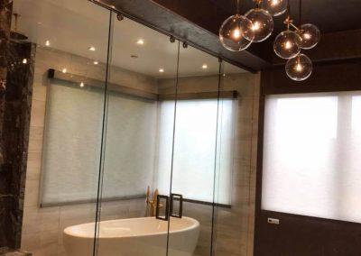 Custom glass shower door in Orange County 1