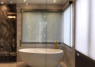 Custom glass shower door in Orange County 2