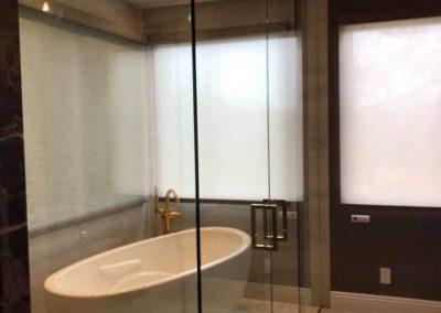 Custom glass shower door in Orange County 5