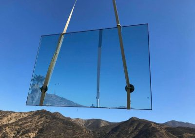 Silverado Canyon - Installing oversize Insulated glass by latour builders 1
